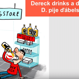 ABC-sentences-Derreck-drinks