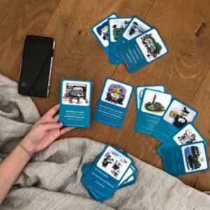 Učení angličtiny pomocí hravých karet amobilní aplikace